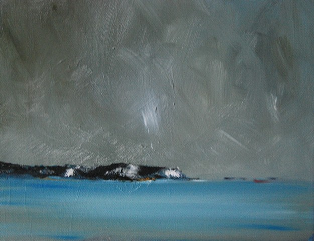 winter coast 8x10 oil canvas