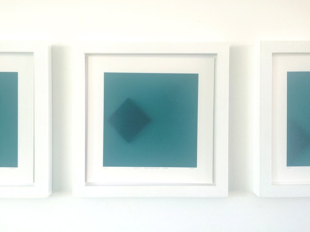 Square (Split Shapes). Green Blue Detail