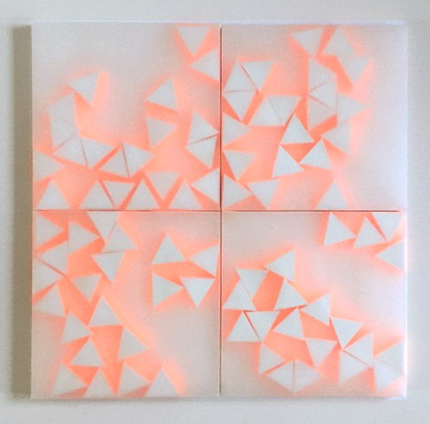 Courtesy of Galerie Pugliese Levi | 21 Triangles (with neon orange)