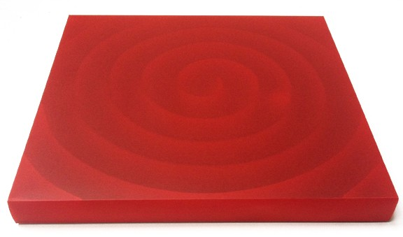 Untitled (Spiral Series red),