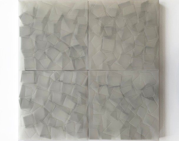 Courtesy of Galerie Pugliese Levi | Open Squares (Transparent Traced)