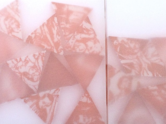 UUntitled -Diptych in Red (From Beliefs in Motion Series). Detail