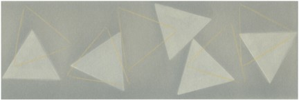Untitled (White triangles w/grey BKGD),  3/7 movements