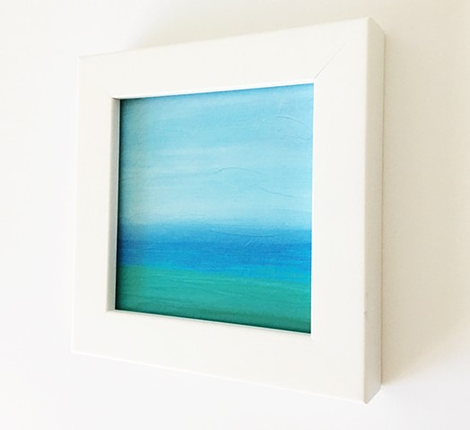 'Blue Tide' II by Eva Glock, Contemporary Painting Print, Waterscape, Seascape
