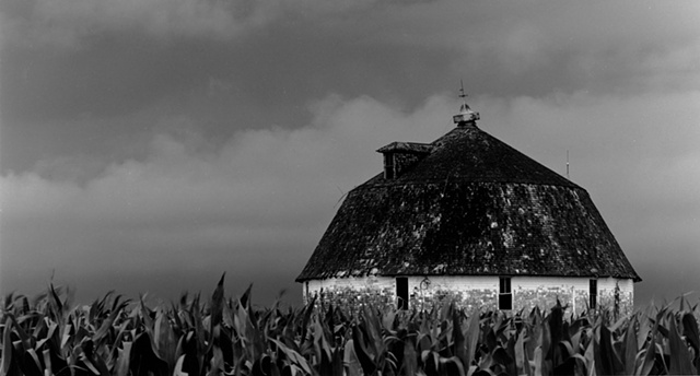 Round Barn in Corn