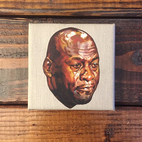 A canvas print of an original oil painting of Jordan Crying. Only 3 available.