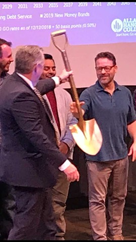 The Golden Shovel for new Fine Arts Complex (2021)