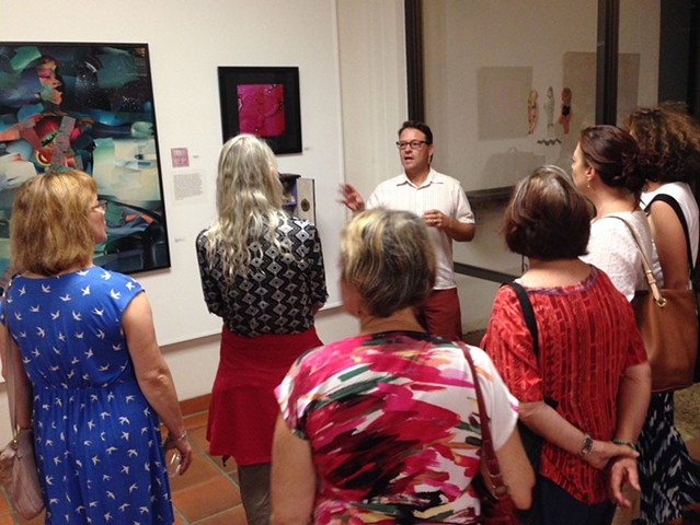Lecturing at the Channing Peake Gallery Santa Barbara, CA