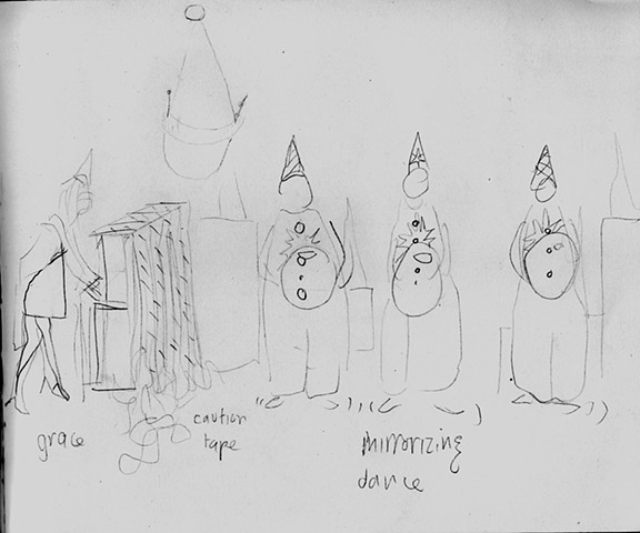 "Set Design for ""Sister Act"" (Proposal Drawing for Set Design) Chrysler Museum Glass Studio"