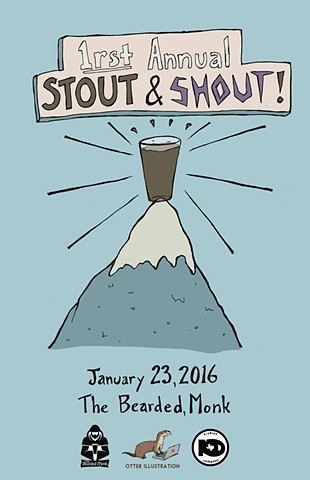 """Stout & Shout at the Bearded Monk"""