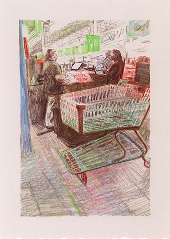 Marketplace/Cashier # 33 (In a private collection)
