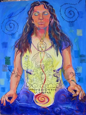 Faith stone art, healing, portrait, Medicine Buddha, Boulder, ColoradoThangka painting, Medicine Buddha, Faith stone art, faithstoneart, Contemporary Buddhist and Hindu art