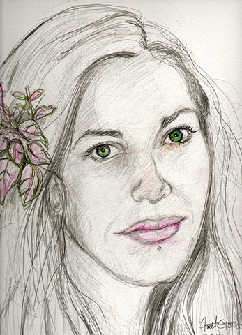 Faith Stone, Faith Stone Art, faithstoneart, portraits, drawings, Kona, Boulder