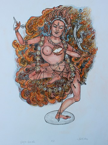 #Vajrayogini, #Buddhism, Buddhis Art, #faithstoneart,  Contemporary Buddhist art
