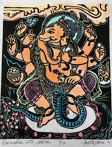 Ganesha, Ganesha with Cobra, AmericanBuddhistArt,