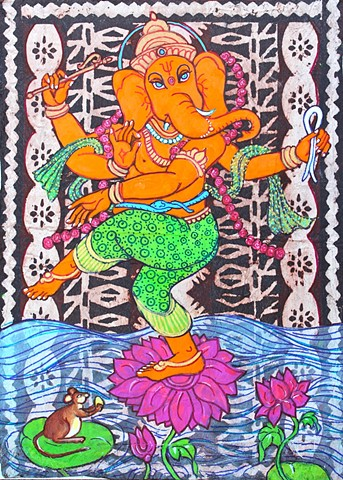Ganesha, contemporary Hindu art, faithstone art, contemporary buddhist art