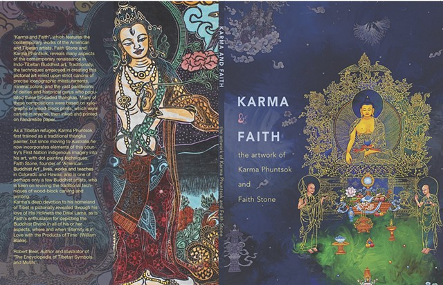 Karma & Faith, The artwork of Karma Phuntsok and Faith Stone, Thangka Art, Contemporary Buddhist Art