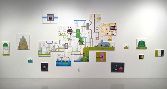 Side-scroll World 1 (Kittredge Gallery installation view)