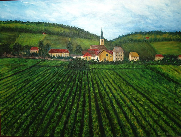 French Village in Vineyards