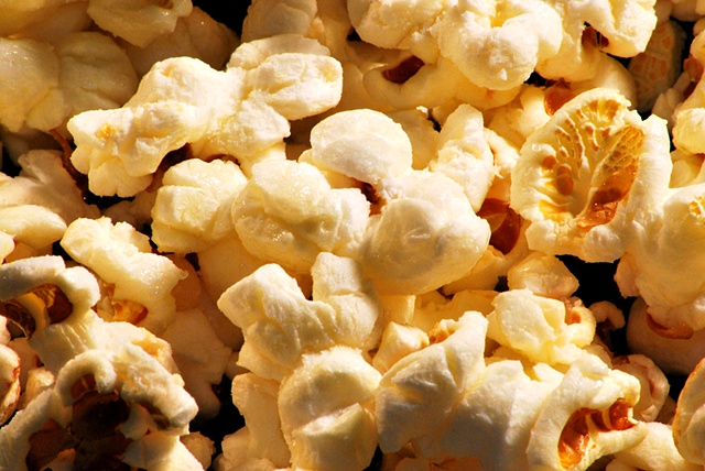 Close up of Homemade Kettle Corn, Popcorn