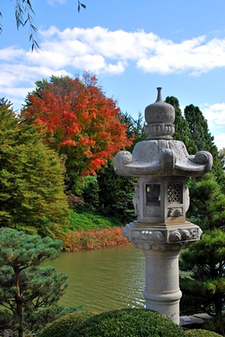 Stone Lantern- Autumn view