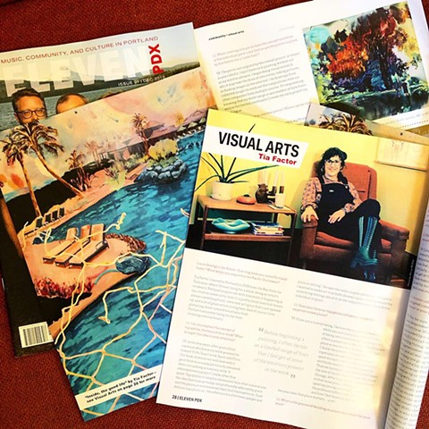 December's Visual Arts feature in Eleven PDX Magazine