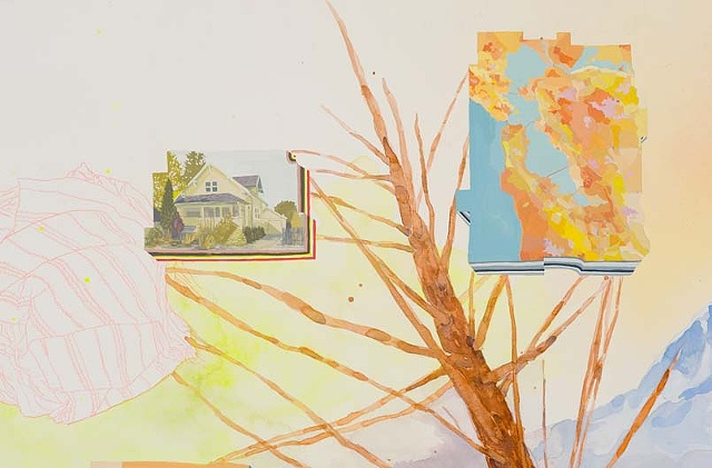 Water media painting about friends varying senses of home