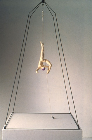 Flyer Hanging by Ankle (Installation view)