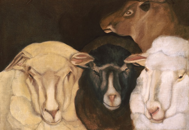 Group of Four Ewes