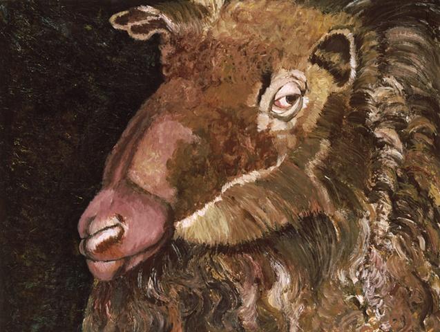 Side-Glancing Brown Sheep