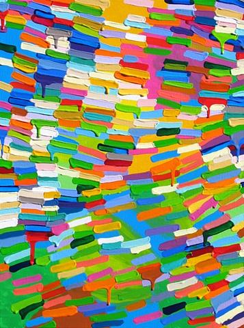 Martina Nehrling, Between, 24Hx18L, acrylic on canvas, 2009