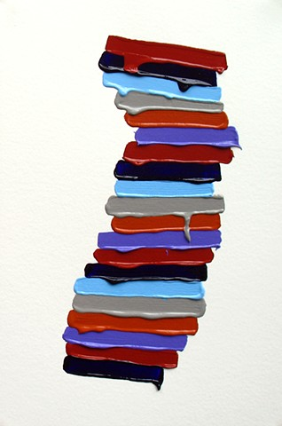 Martina Nehrling, Watershed (57), 12 x 8 in., acrylic on Montval paper, 2018