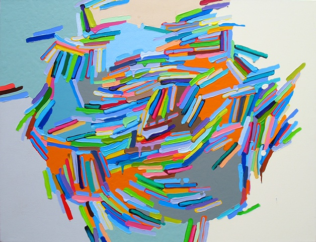Martina Nehrling, Far Flung, 26H x 34L in., acrylic on canvas, 2012