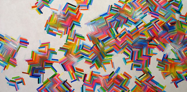 Martina Nehrling, Fine Bones, 36 x 72 in., acrylic on canvas, 2016