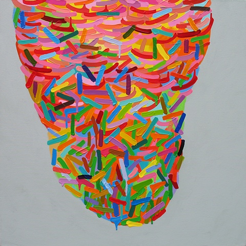 Martina Nehrling, Lickety, 30 H x 30 L in., acrylic on canvas, 2010