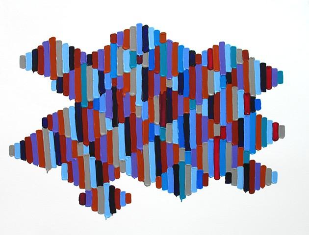 Martina Nehrling, Ripple, acrylic on Montval paper 2018
