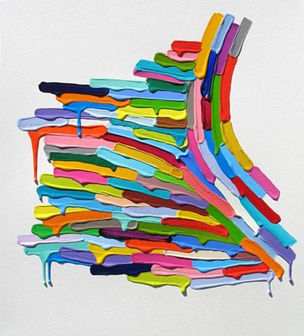 Martina Nehrling, Slip, 16H x 14.5L in., acylic on paper, 2013