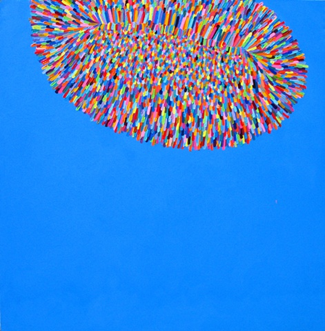 Martina Nehrling, Disbelief, 60 H x 60 L in., acrylic on canvas,  2004