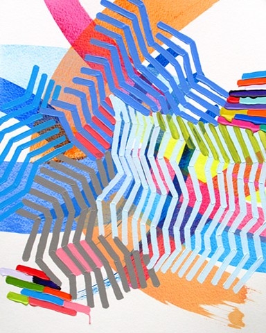 Martina Nehrling, Thin Slicing, 20H x 16L in., acrylic on Montval paper, 2014
