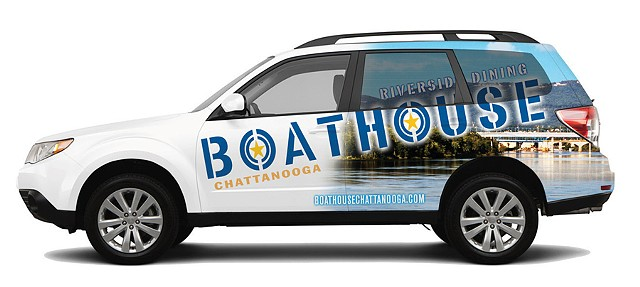 Boathouse Vehicle Wrap