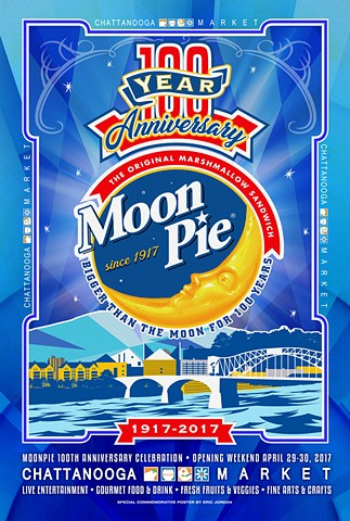 Moonpie 100th Anniversary Poster