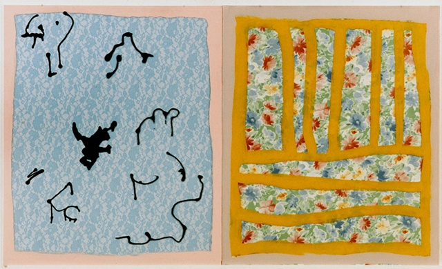 Blue Lace Diptych