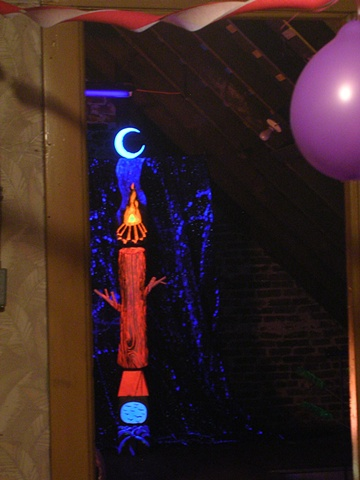 """It's Only A Paper Moon (2)"", Gunnatowski  Installation shot from inside of ""I Had A Dream I Was A Suspect ...."", detail."
