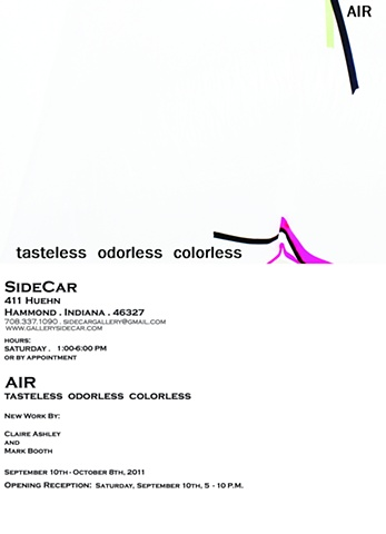 """AIR: tasteless  odorless  colorless"" - New work by Claire Ashley and Mark Booth"