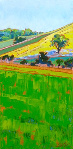 landscape painting, colorful landscape, farmland, Rockbridge County, Shenandoah Valley, Virginia