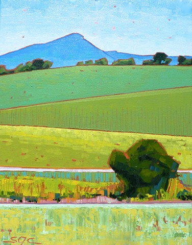 landscape painting, colorful landscape, Jump Mountain, armland, Rockbridge County, Shenandoah Valley, Virginia