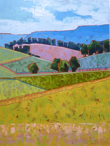 Landscape, Virginia landscape, landscape painting, Shenandoah Valley, farmland