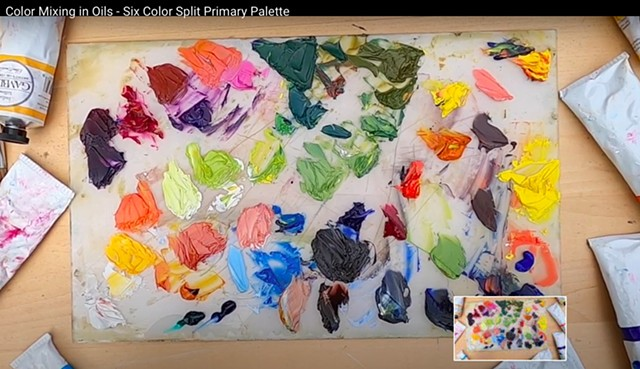 Color Mixing in Oils - Six Color Split Primary Palette