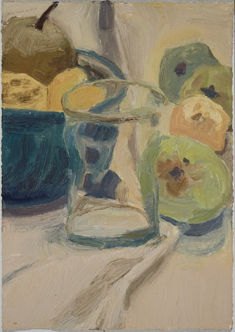 still life with quince and pear