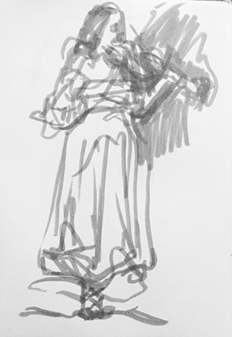 Sketch from Sarafand performance